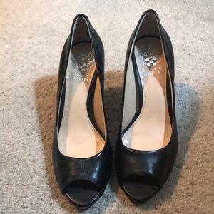 Vince Camuto Black peep toe heels